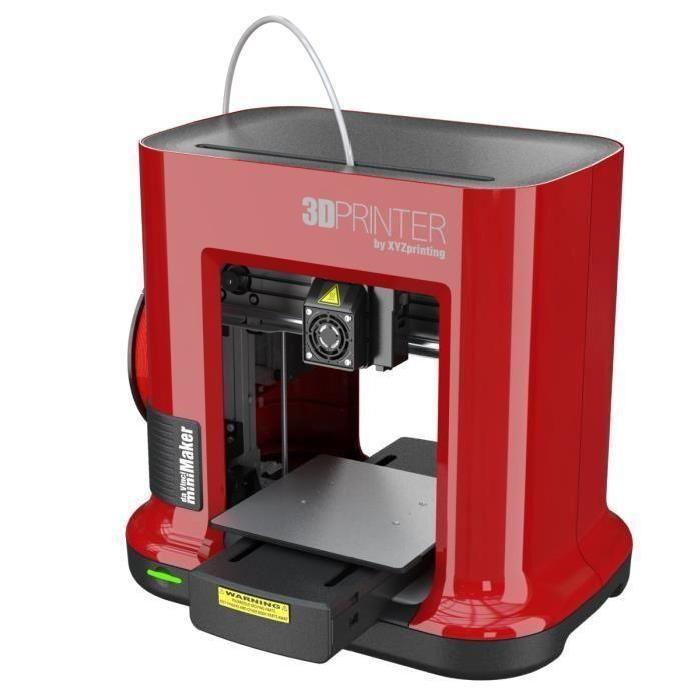 Imprimante 3D XYZ Da Vinci Mini Maker RED - 1 Buse - USB 2.0 - PLA - 1,75mm - Rouge