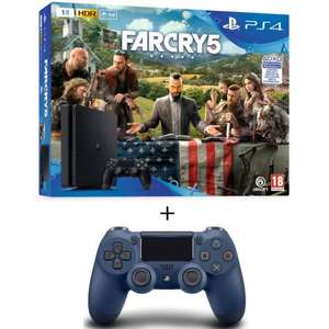 [Cdiscount à volonté] Console Sony PS4 Slim (1 To) + Far Cry 5 + 2ème Manette DualShock 4 Midnight Blue (V2)