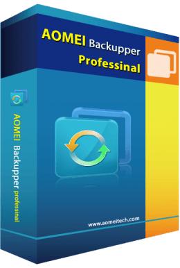 Logiciel Aomei Backupper Professional gratuit sur PC (dématérialisé)