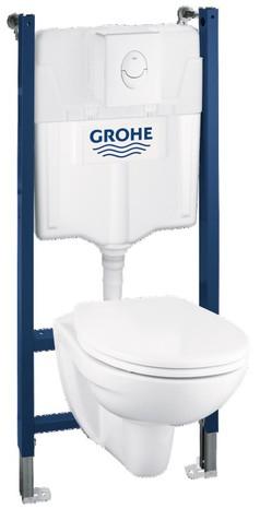 Pack WC suspendu Grohe (WC + Cuvette + Plaque de commande)