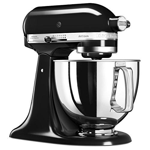 Robot pâtissier Kitchenaid Artisan 5K45SSEOB, 4.8 L, 300 W - Noir