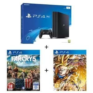 Console Sony PS4 Pro 1To + Far Cry 5 + Dragon Ball Fighter Z