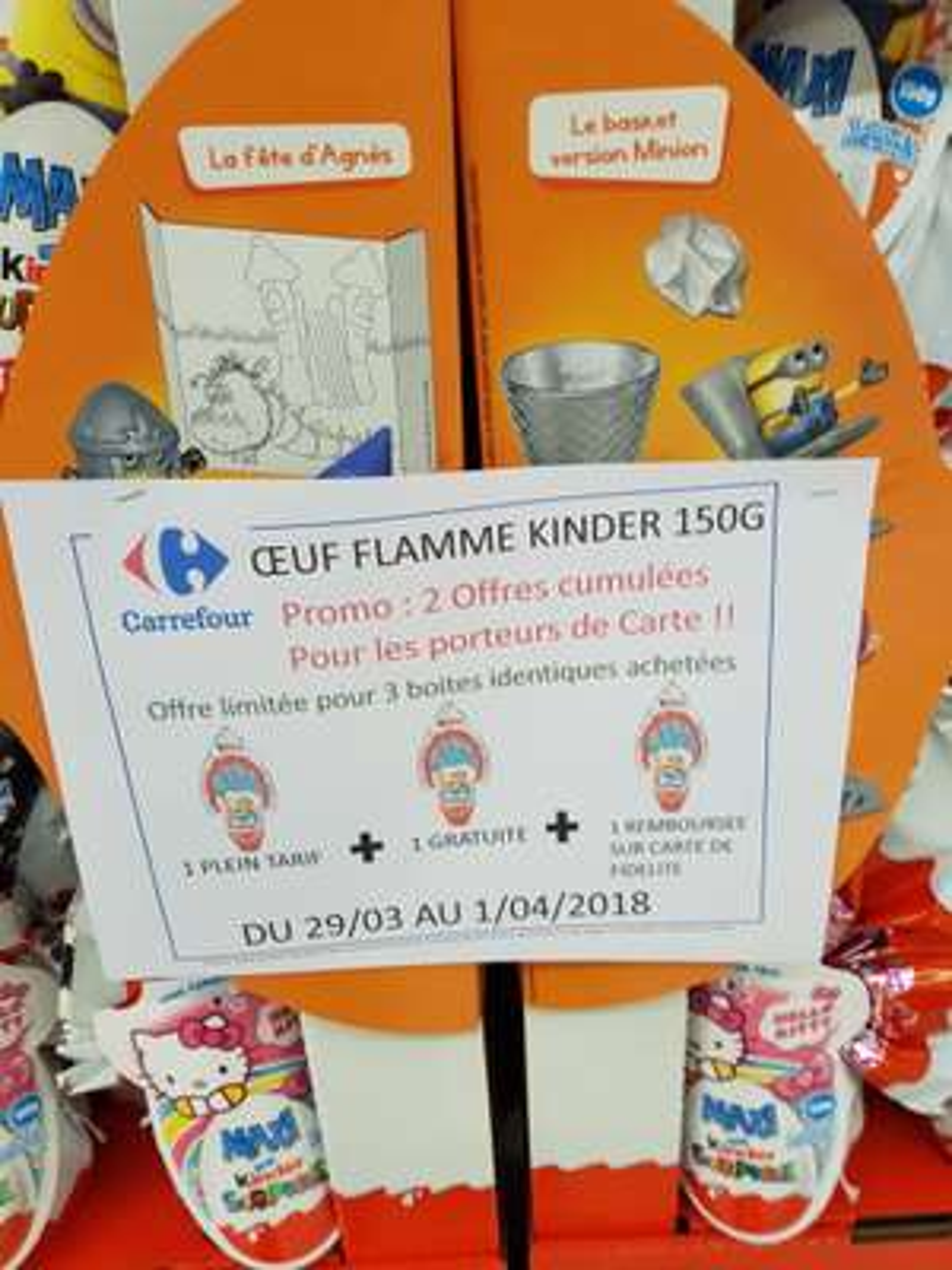 3 Oeufs de Pâques Maxi Kinder Surprise (via 7.19€ sur la carte fidélité)