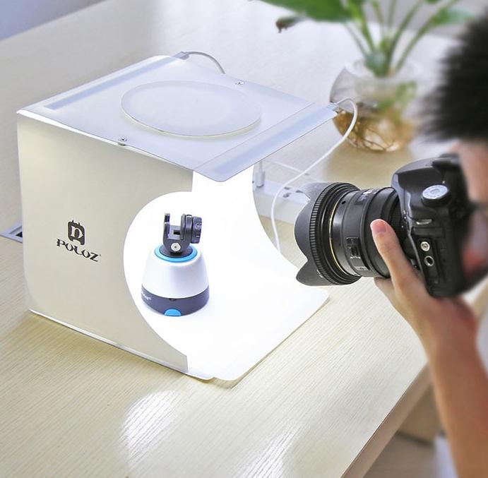 Mini studio photo pliable et lumineux avec 6 fonds (20 x 20 x 20 cm)