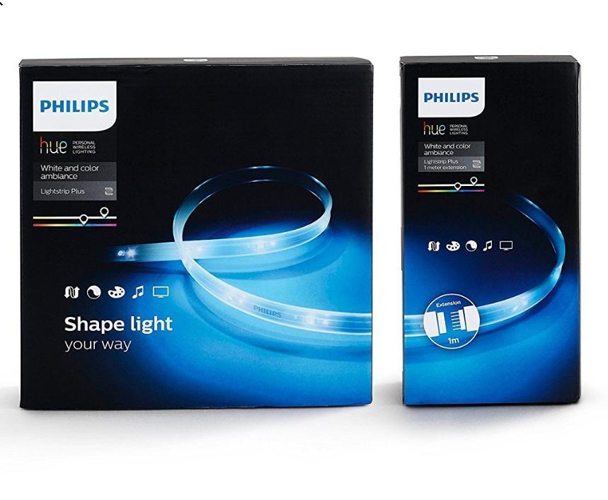 Jusqu'à 30% de réduction sur les luminaires connectés Philips Hue - Ex  : Ruban lumineux Philips Hue Lightstrip Plus 2m + Extension 1m