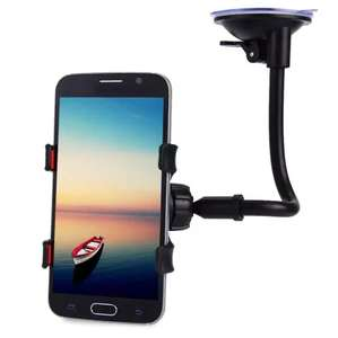 Support smartphone à ventouse pour voiture - Bras long (17 cm)