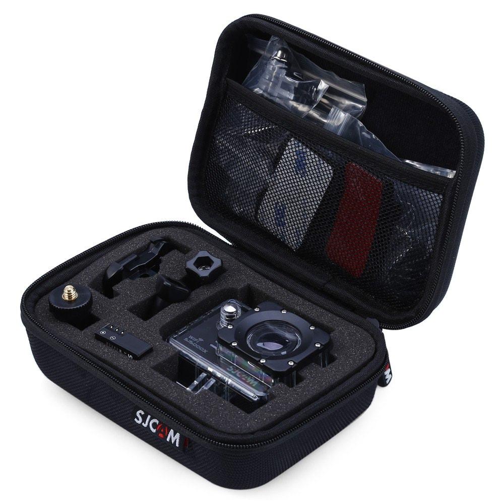 Housse de rangement SJCAM pour Caméra sportive et Accessoires - Noir (16 x 12 x 8 cm)