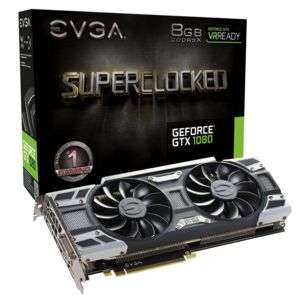 Carte graphique Evga GTX 1080 SuperClocked ACX3.0 Cooling - 8 Go