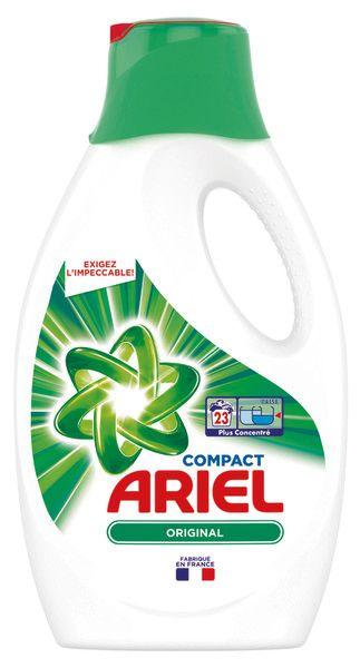 Bidon de lessive Liquide Ariel - différentes Variétés, 1.265 L (via BDR + 5.5€ sur la carte de fidélité)