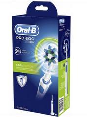 Brosse à dents électrique Oral-B Pro 600 (via 21€ fidélité)