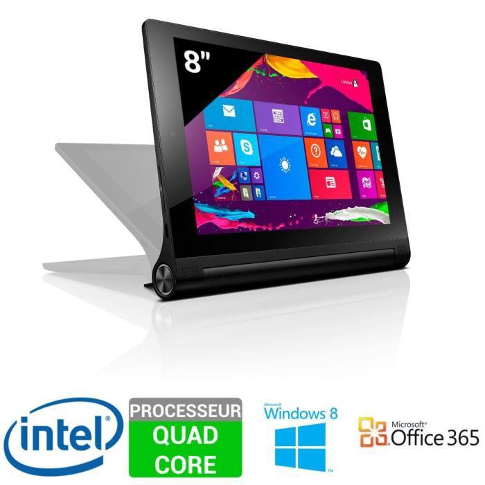 """Tablette 8"""" Lenovo Yoga Tablet 2-851 - 32Go,  Win 8.1 + 1 an d'Office 365 + 20€ de bon d'achat (50€ d'ODR)"""