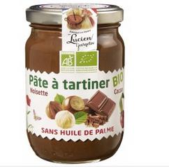 Pot de pâte à tartiner BIO Lucien Georgelin - 280 g, sans huile de palme - Hyper Intermarché