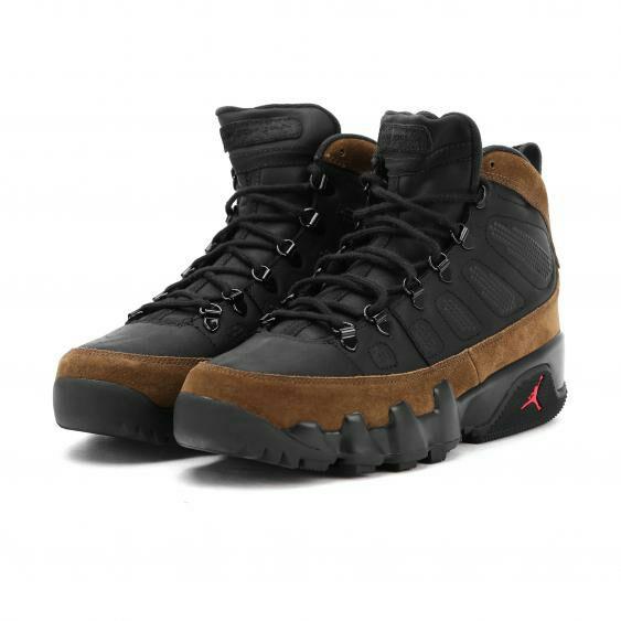 Boots Air Jordan 9 Retro NRG Black/Light Olive (Tailles au choix)