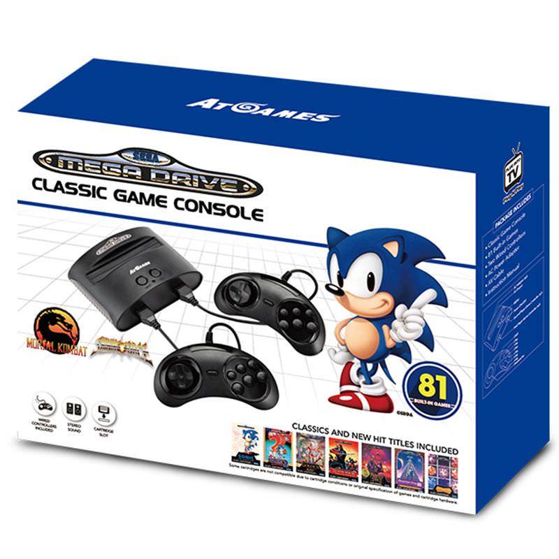 Sélection de consoles en promotion - Ex : Sega Megadrive avec 80 Jeux + 2 Manettes