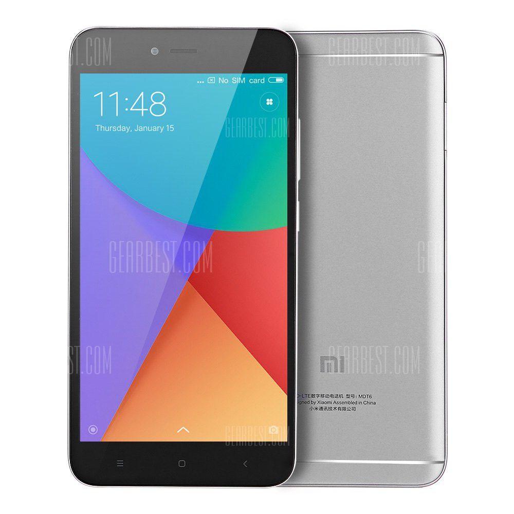"Smartphone 5.5"" Xiaomi Redmi Note 5A Gris (Global) - HD, Snapdragon 425, RAM 2 Go, ROM 16 Go, B20 (Entrepôt EU)"