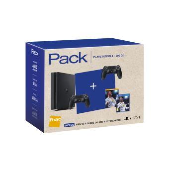 [Précommande] Console PS4 Slim 500 Go Noir + 2ème Manette + FIFA 18