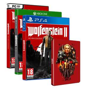 Jeu Wolfenstein II The New Colossus sur PS4, Xbox One ou PC + 1 Steelbook offert