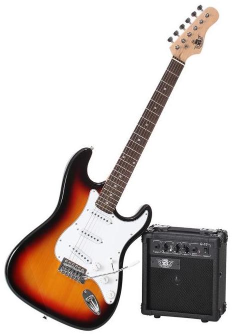 Pack guitare électrique Legend PAC-S100SB sunburst type stratocaster