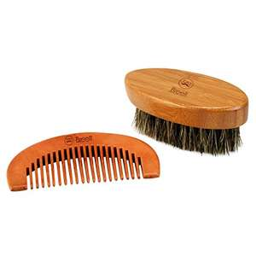 [Panier Plus] Brosse et peigne à barbe - matières naturelles (vendeur tiers)