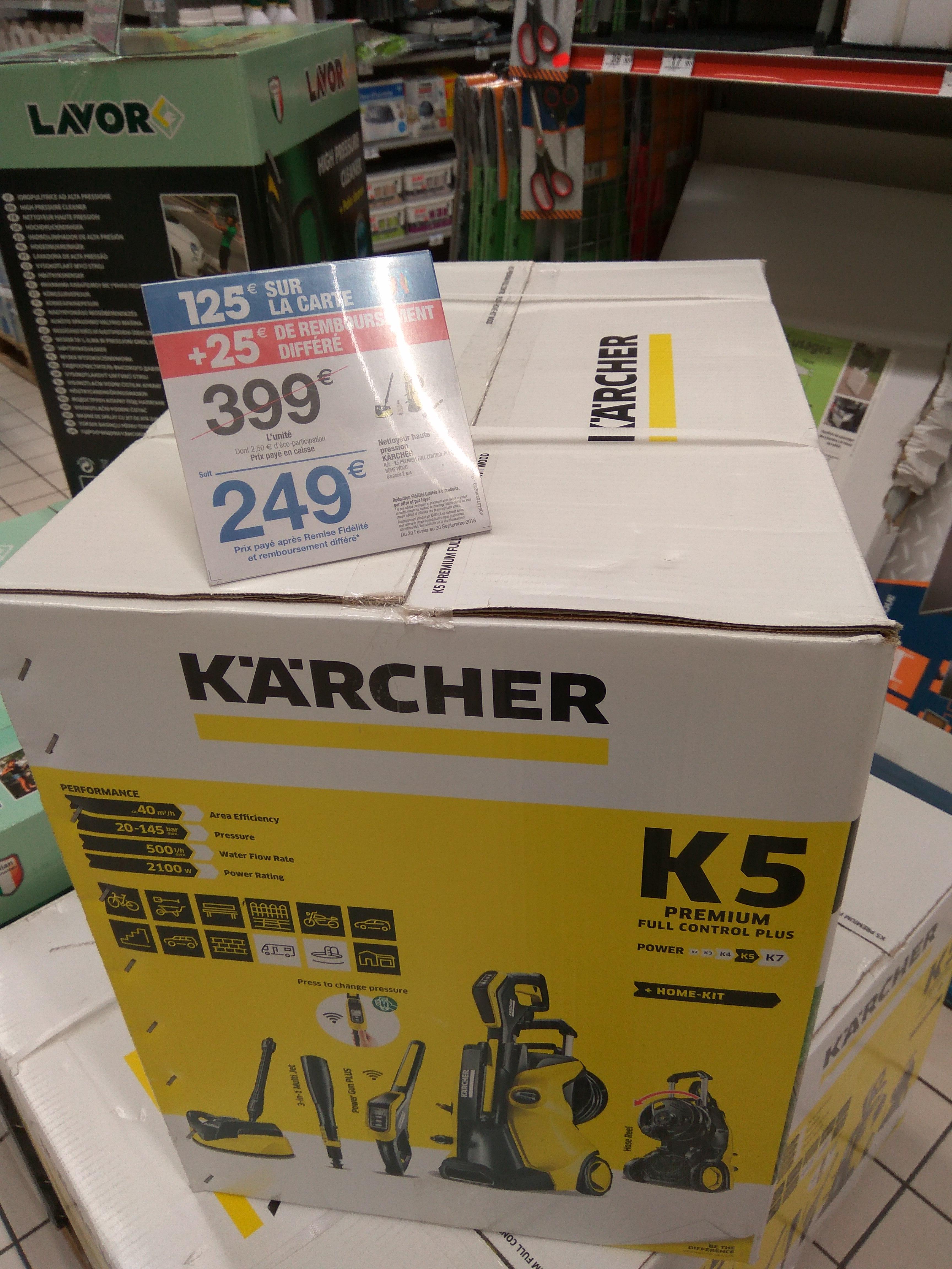 Nettoyeur haute pression Karcher K5 Premium Full Control Home - 3000W, 160 bar (via 125€ sur la carte et ODR de 25€) - (Bonneveine 13 / Givor 69)