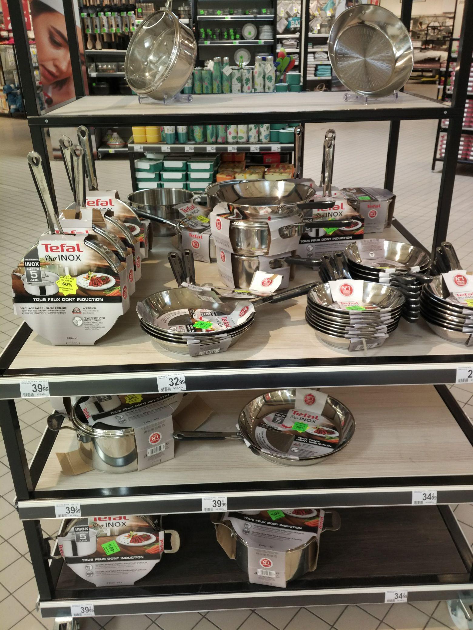 50% de réduction sur la gamme Tefal Pro Inox 18/10 à Auchan Pérols (34)