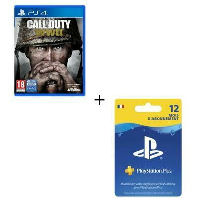 Jeu Call of Duty World War II sur PS4 + Abonnement PlayStation Plus 12 mois
