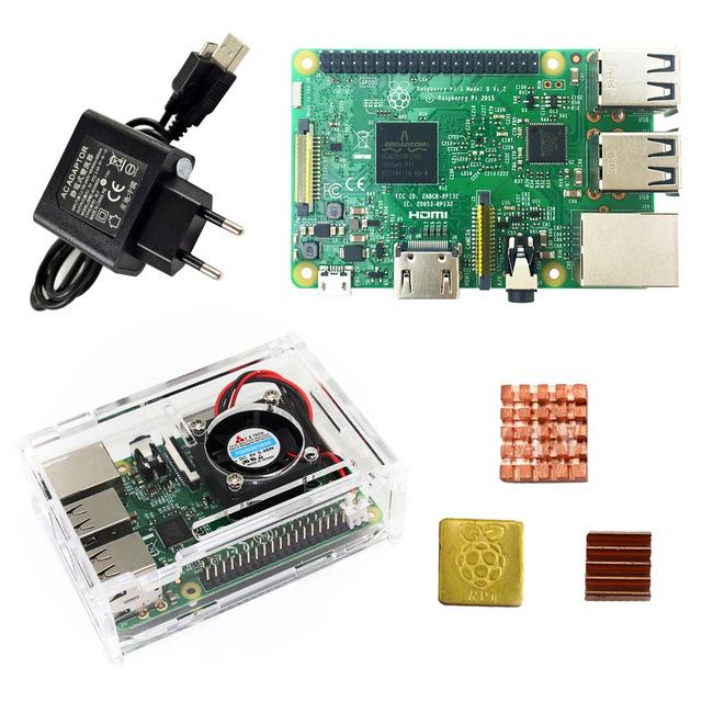 15% de réduction sur une sélection de kits pou mini-PC Raspberry Pi 3 (modèle B) - Ex : alimentation + boîtier de protection + carte de Développement + dissipateurs de chaleur