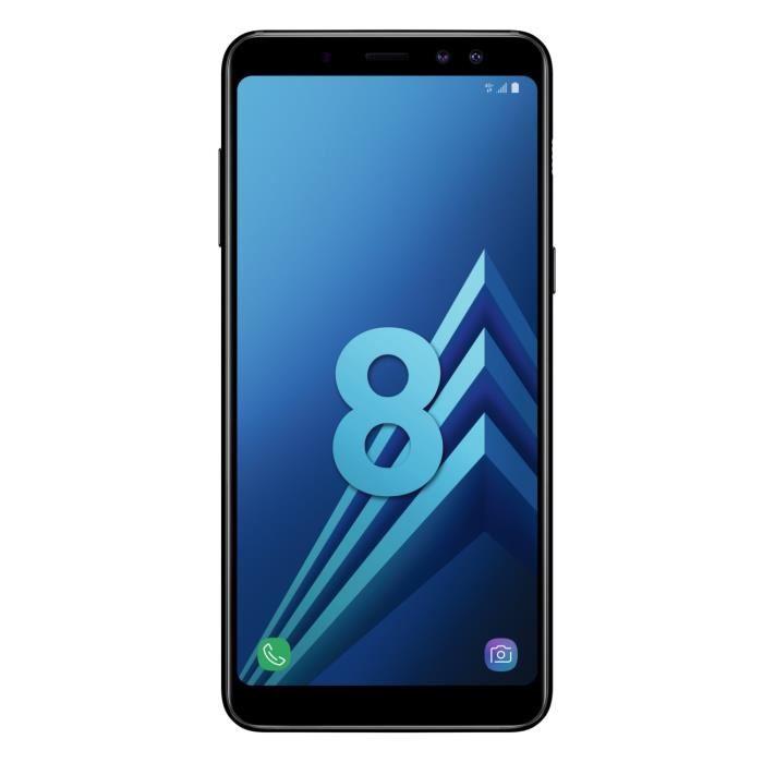 "Smartphone 5.6"" Samsung Galaxy A8 (2018) - Full HD+, Exynos 7885, RAM 4 Go, ROM 32 Go (via ODR de 70€)"