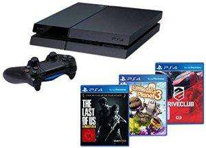 Pack Console Sony PS4 + The Last of Us + Little Big Planet 3 + Drive Club