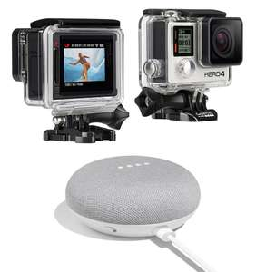 Caméra sportive GoPro Hero 4 Silver + Google Home Mini