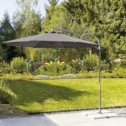 Parasol mât déporté Garden Feelings aluminium 3m rotatif 360°
