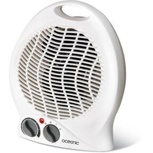 Lot de 2 Chauffages soufflant Oceanic - Ventilateur 2000 watts - 2 puissances - Mobile