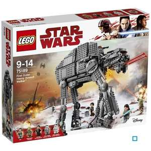 Sélection Lego Star Wars en promotion - Ex : Star Wars irst Order Heavy Assault Walker 75189 (via 32.50 € sur la carte)