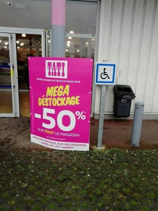 50% de réduction sur tout le magasin - (Lys-lez-Lannoy (59)