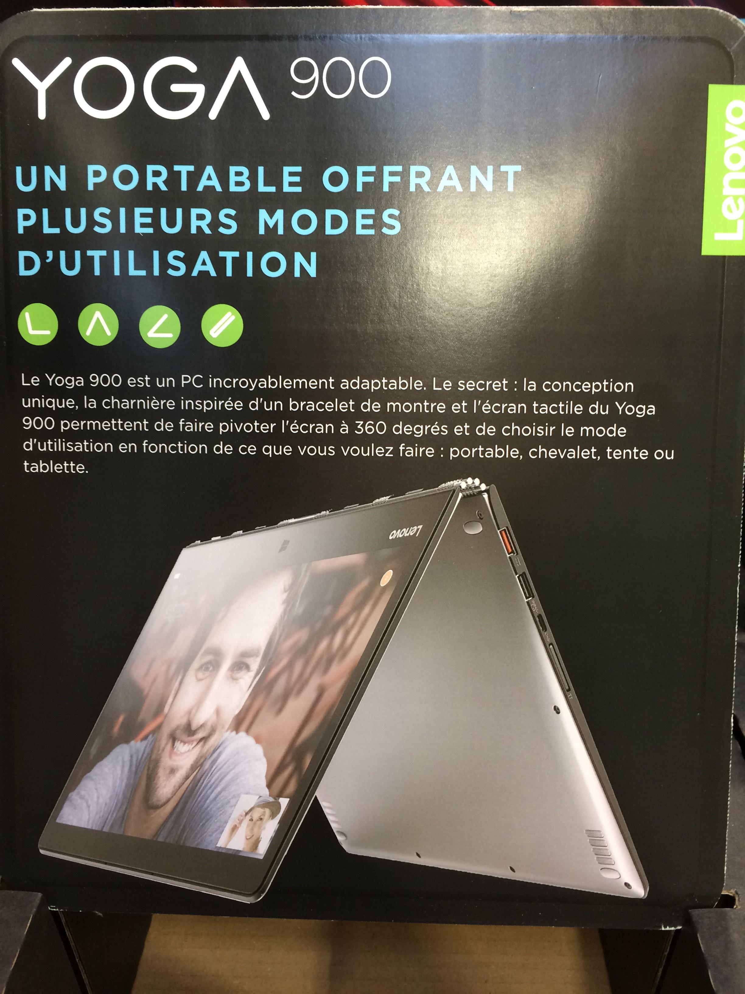 "[Carte CostCo] PC Portable 13,3"" Lenovo Yoga 900-13ISK - QHD, Core i5-6260U, 8Go de RAM, 512Go de SSD - CostCo Villebon-sur-Yvette (91)"
