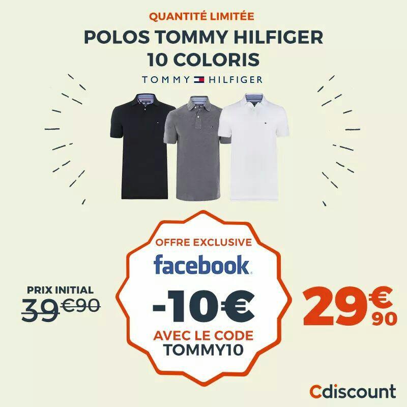 Sélection de Polos Tommy Hilfiger - (vendeur tiers)
