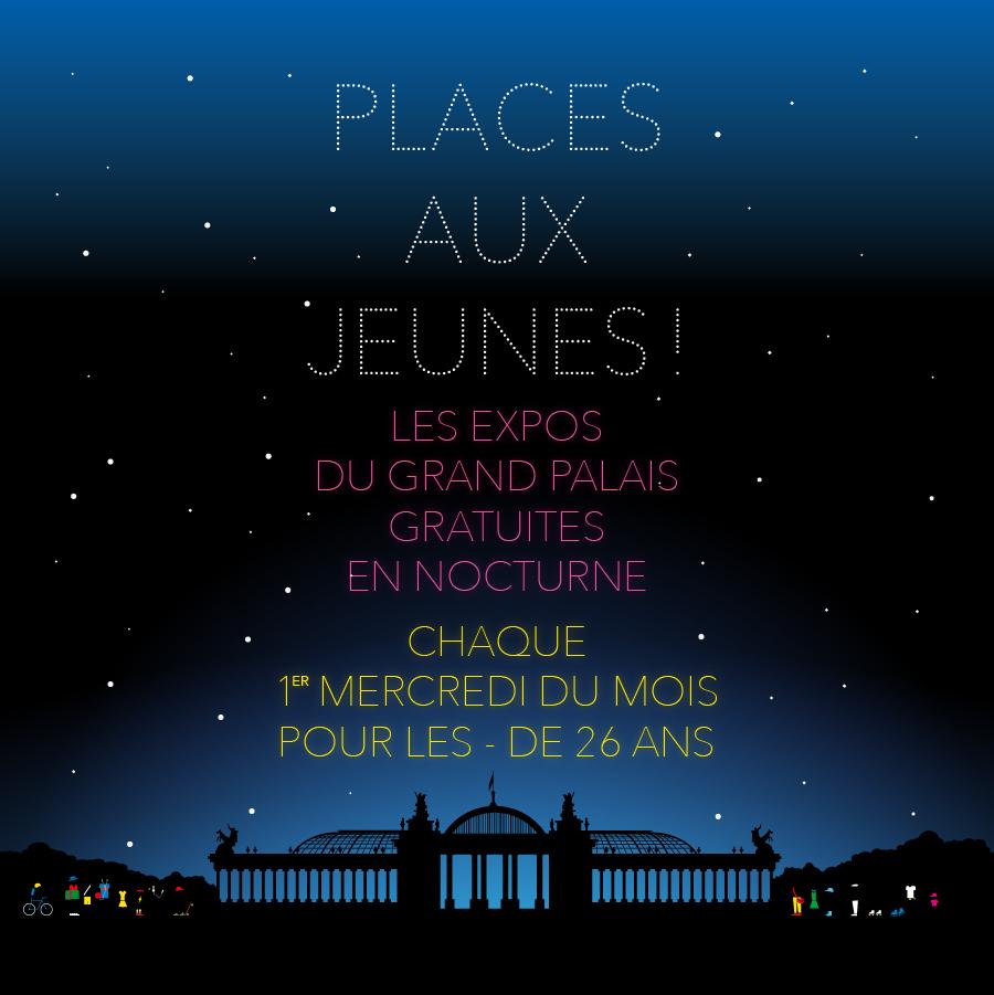 Expositions gratuites pour les moins de 26 ans au Grand Palais chaque 1er mercredi du mois en nocturne