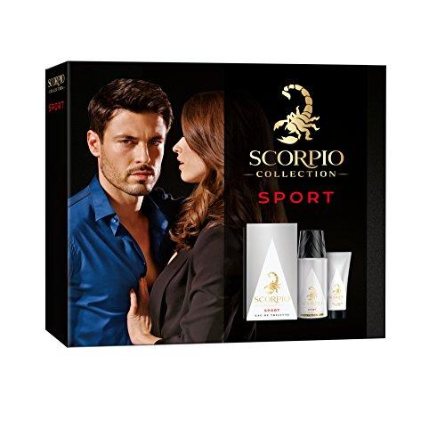 Coffret  Scorpio Collection Sport (eau de toilette 75mL, déodorant 150mL & Crème pour le visage 50mL)