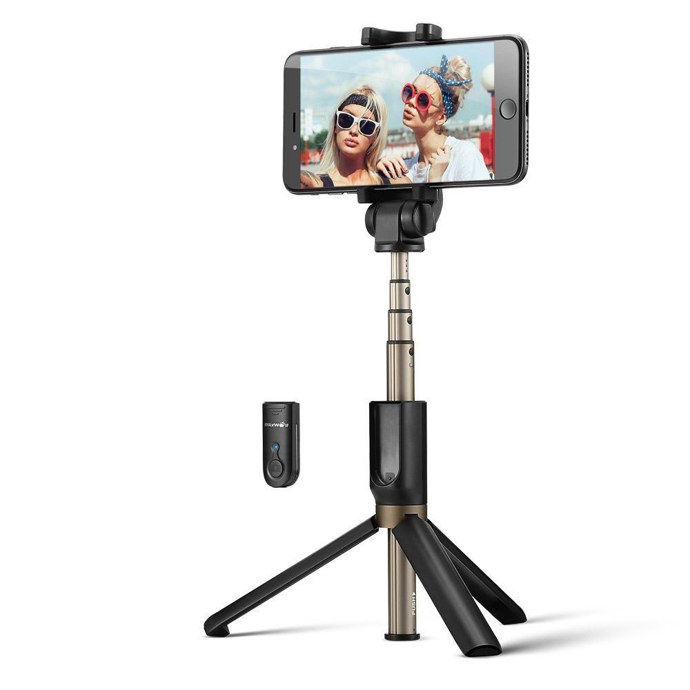 Trépied selfie sans fil 3-en-1 BlitzWolf avec télécommande pour smartphone - Bluetooth