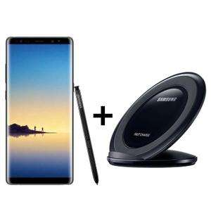 "Smartphone 6.3"" Samsung Galaxy Note 8 - 64 Go, Noir + Chargeur induction Samsung"