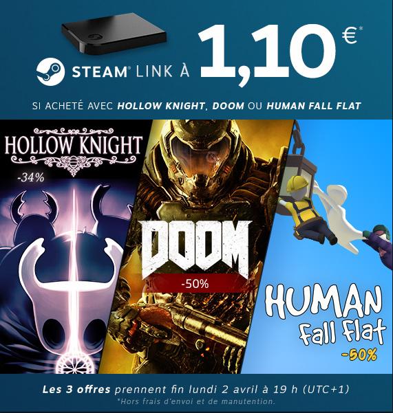 Steam Link Bundle + Doom sur PC (Dématérialisé - Steam)