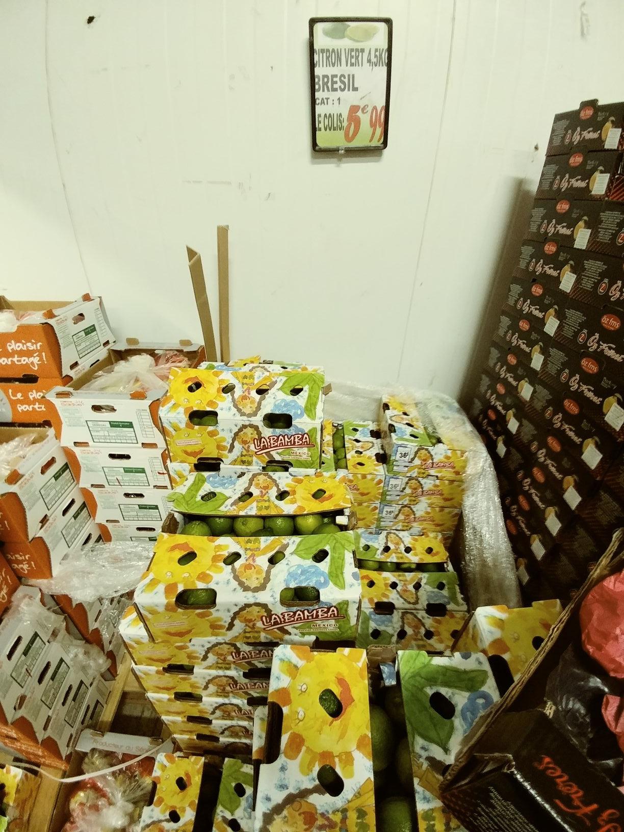 Citron vert Origine Brésil (4.5 kg) - H Market Pontault-Combault (77)