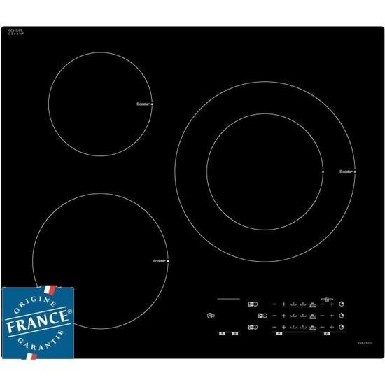 Table de cuisson induction Sauter SPI5361B - 3 zones, 7200W, Revêtement verre (55,5 x 48,8 cm)