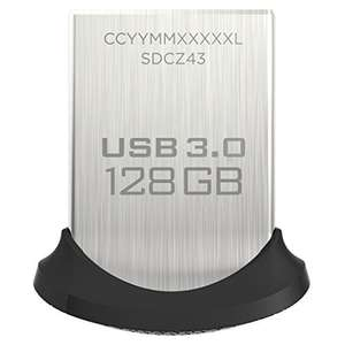 Clé USB 3.0 Sandisk Ultra Fit (jusqu'à 150 Mo/s) - 128 Go