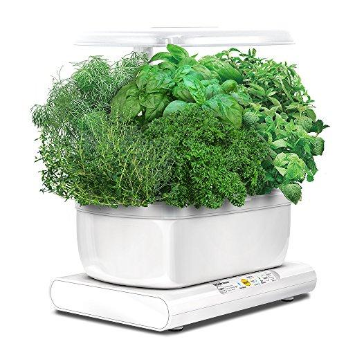 Kit de Culture Hydroponique Miracle-Gro AeroGarden Harvest avec Capsules de Graines d'Herbes Gourmets - Blanc