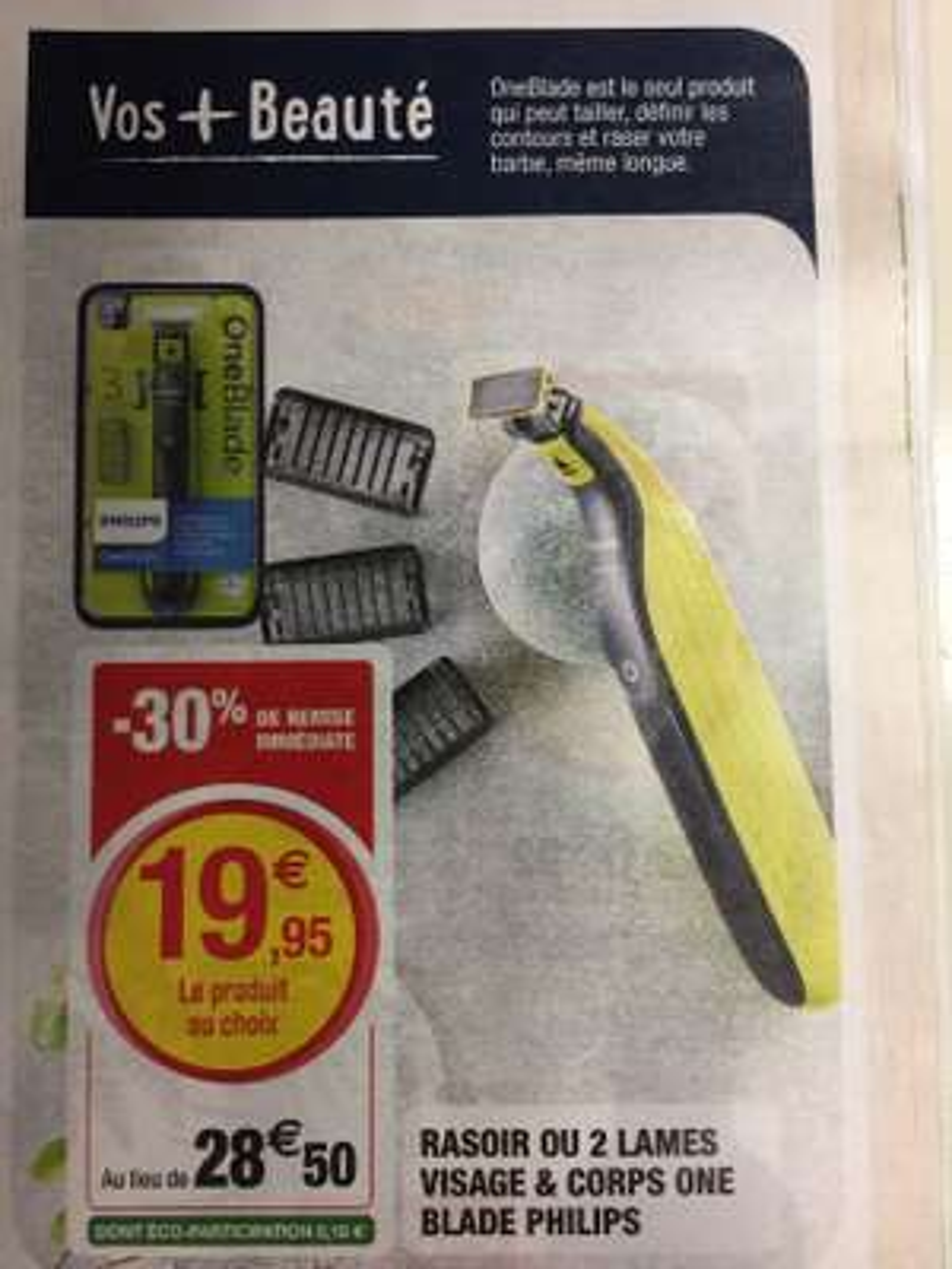 Rasoir ou 2 lames Philips One Blade