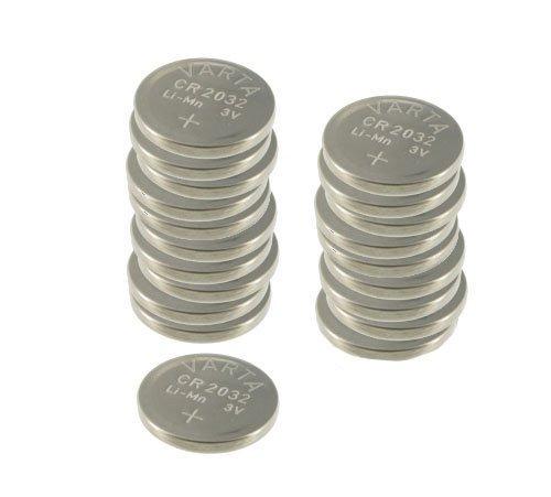 Pack de 20 piles bouton Varta - Lithium CR2032, 3,0 Volt, 230 mAh