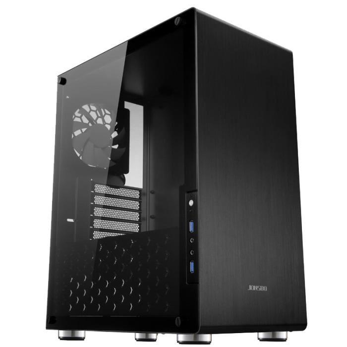 Boitier PC JONSBO U4 - Format ATX, Fenêtre Verre trempé - Noir
