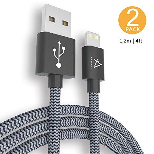 Lot de 2 câbles lightning pour iPhone/iPad en nylon tressé (vendeur tiers)