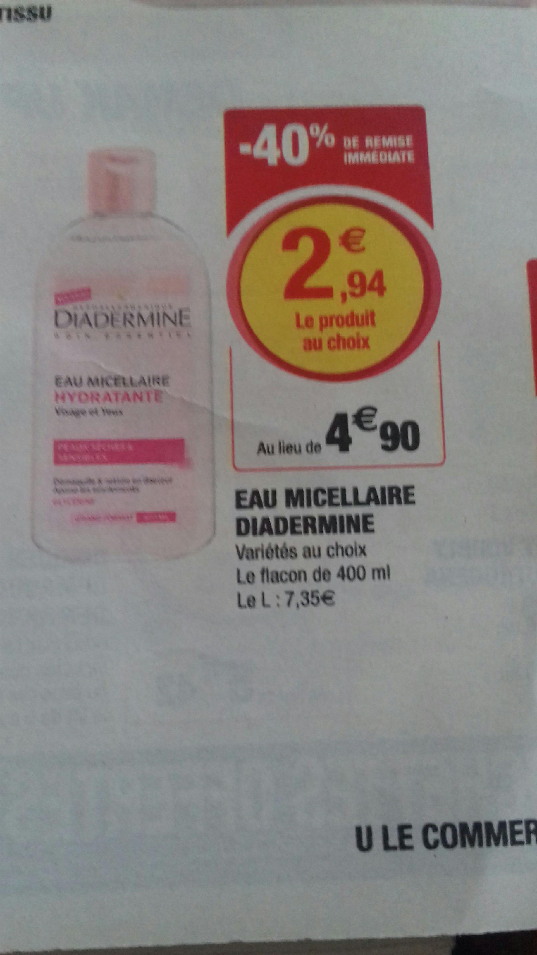 Eau micellaire Diadermine - 400ml (via BDR 1.50€)
